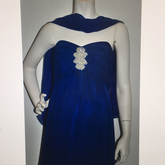 Unbranded Dresses & Skirts - La Femme Maternity Dress Royal Strapless